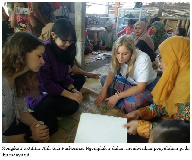MAHASISWA FLINDERS UNIVERSITY AUSTRALIA MENGIKUTI PROGRAM ELEKTIF DEPARTEMEN GIZI KESEHATAN FKKMK UGM