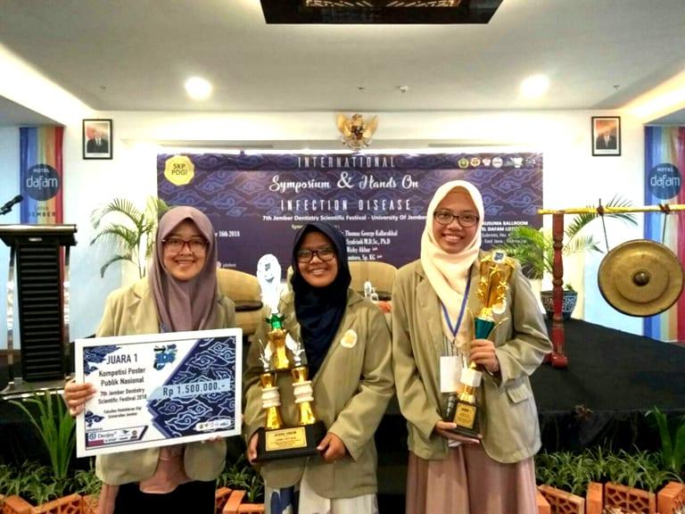 Mahasiswa Gizi Kesehatan FK-KMK Menjadi Juara Umum dalam 7th Jember Dentistry Scientific Festival (JDS Fest) 2018